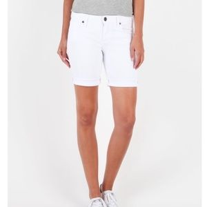 Kut From The Kloth White Boyfriend Shorts